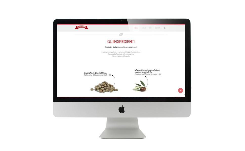 sito web pizzeria Al Tegamino di BwithC