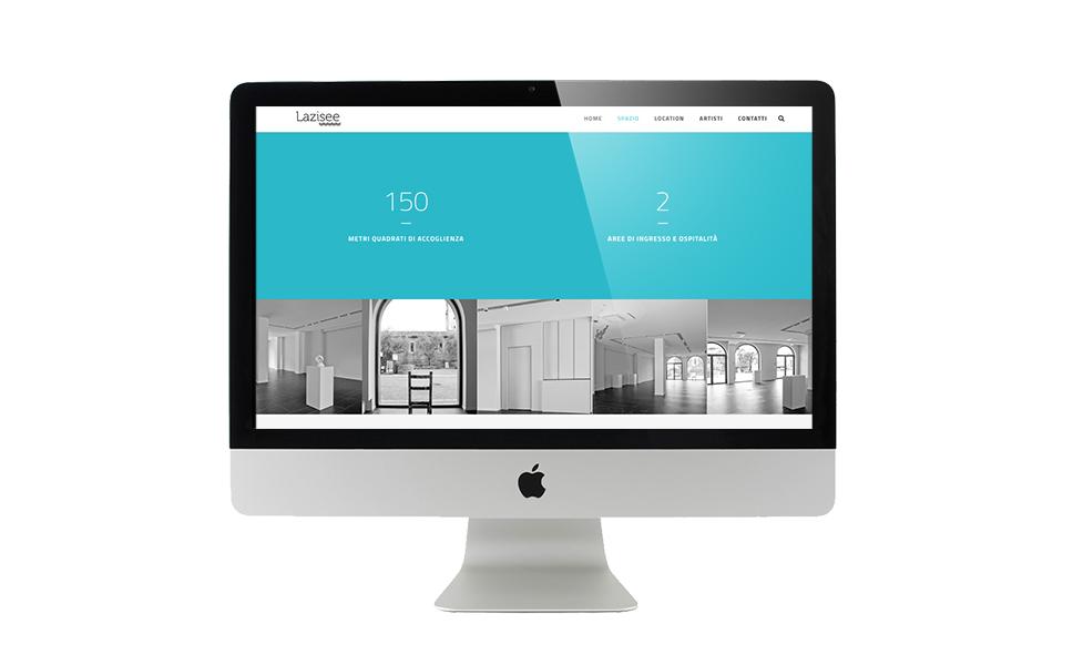 Web design per galleria d'arte. BwithC.