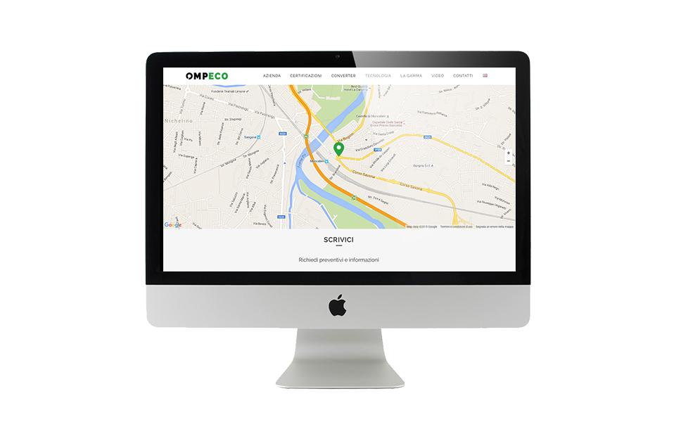 Mappa sul sito internet di Ompeco.