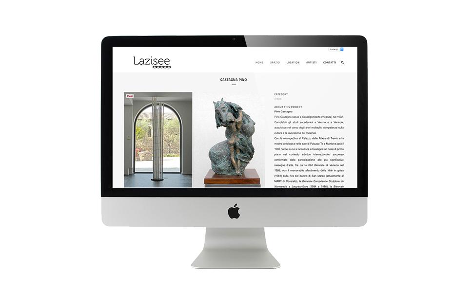 Pagine del sito internet Lazisee BwithC