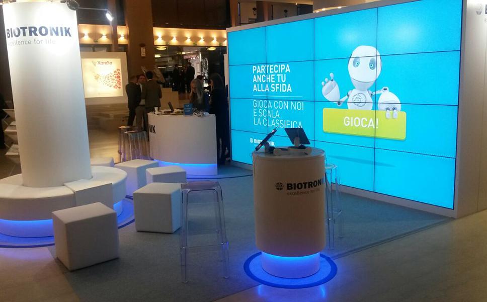 Gioco nello stand Biotronik di BwithC