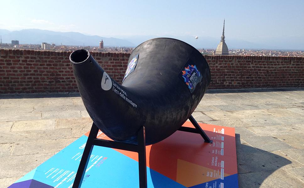 Installazione dell'Alpicorno al Museo della Montagna